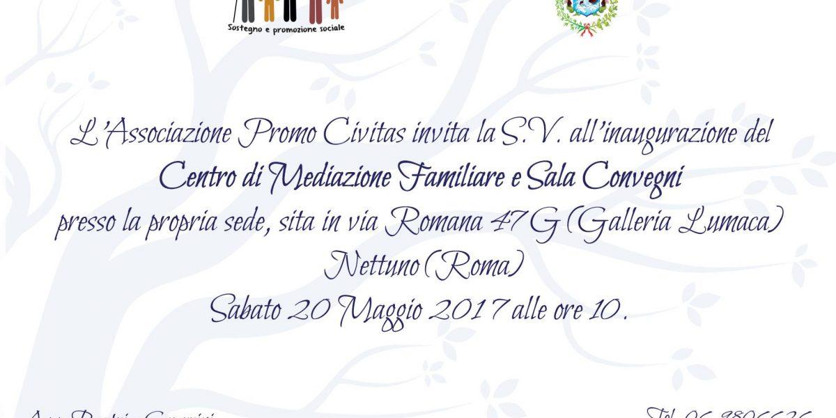 Inaugurazione sede associazione Promo Civitas
